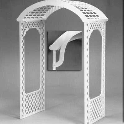 Arch - White Wood Lattice