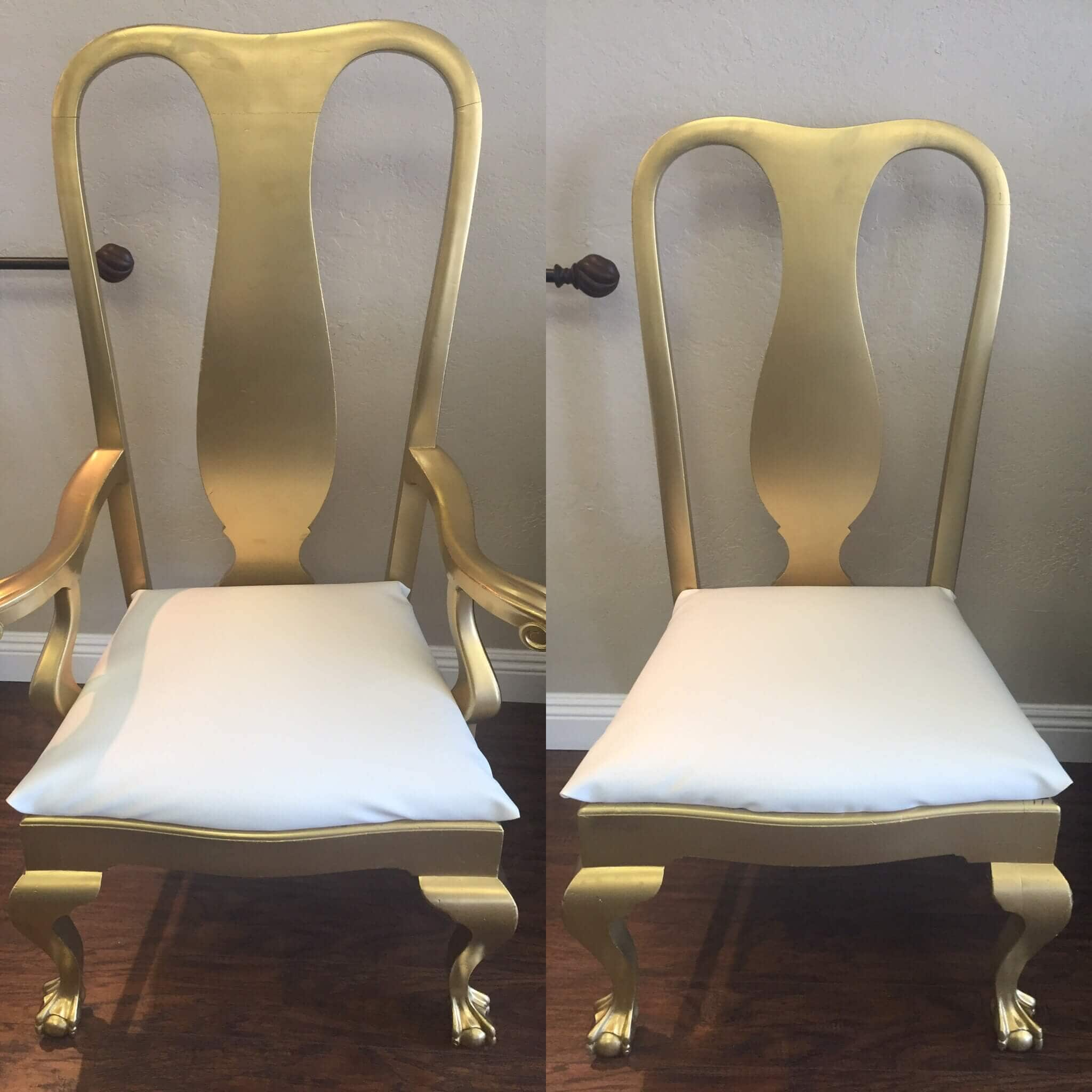 King & Queen Chair Set Gold Taylor Rental Party Plus