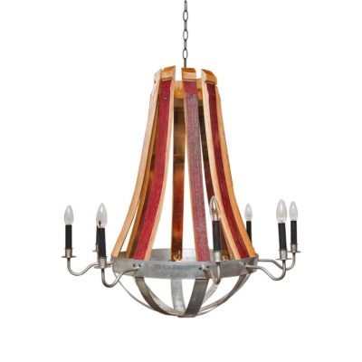 Rustica Wine Barrel Chandelier