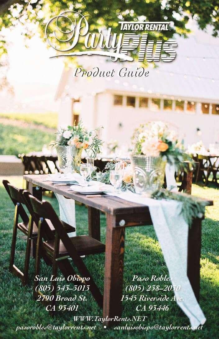 Taylor Rental Party Plus - San Luis Obispo County Wedding