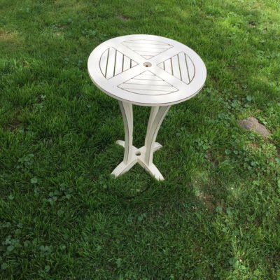 Vintage Creme Cocktail Table