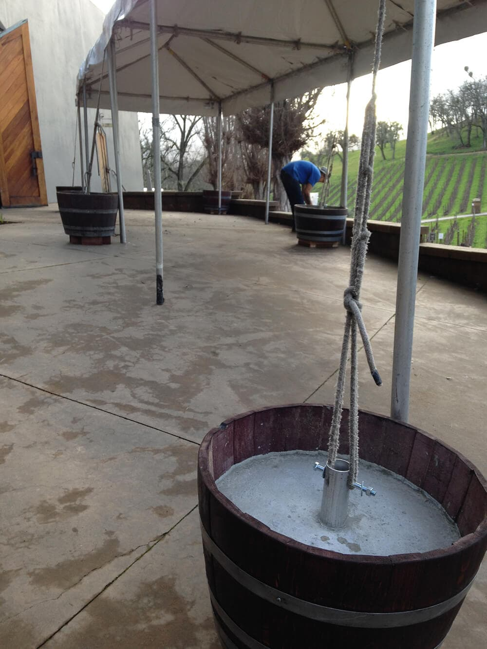 Wine Barrel Eco Friendly Tent Weights Taylor Rental