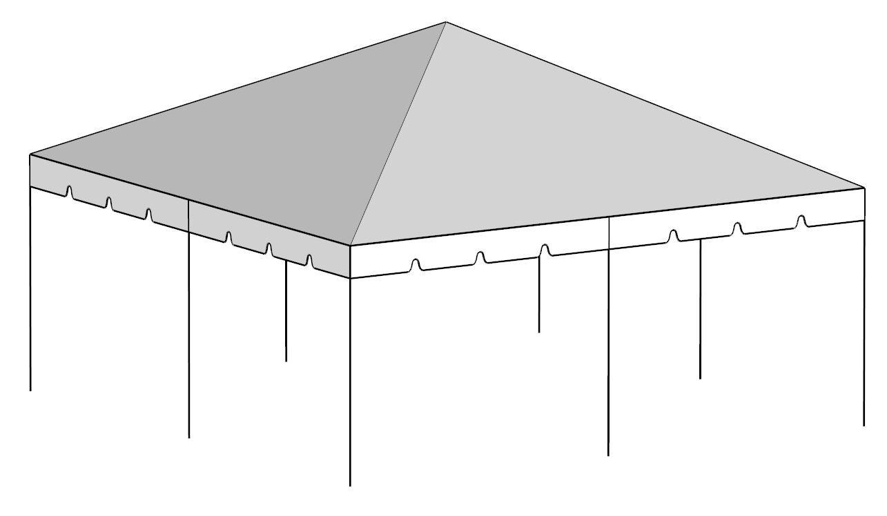 20 x Tent Canopies