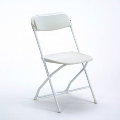 Chair - White Samsonite (metal frame)