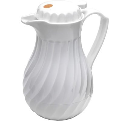 Coffee Pitcher - White Swirl Insulated