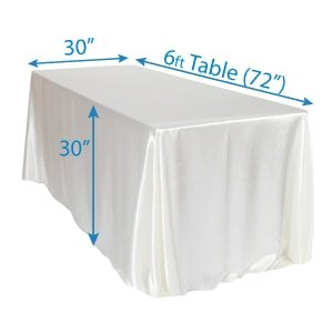 6 ft Table Drape