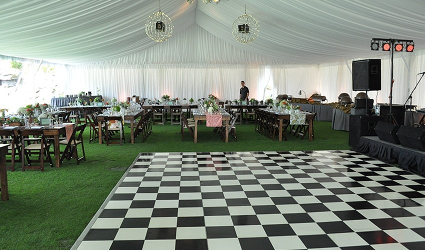 Black & White Checkered Dance Floors