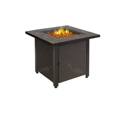 Rustica Wicker Fire Pit (Flames)