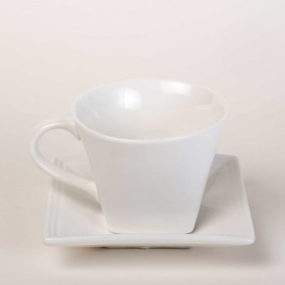 Square Coffee Cup and Saucer - Square Bistro