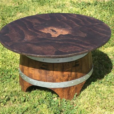 Table - Wine Barrel Lounge (36_ Round Wood Top)