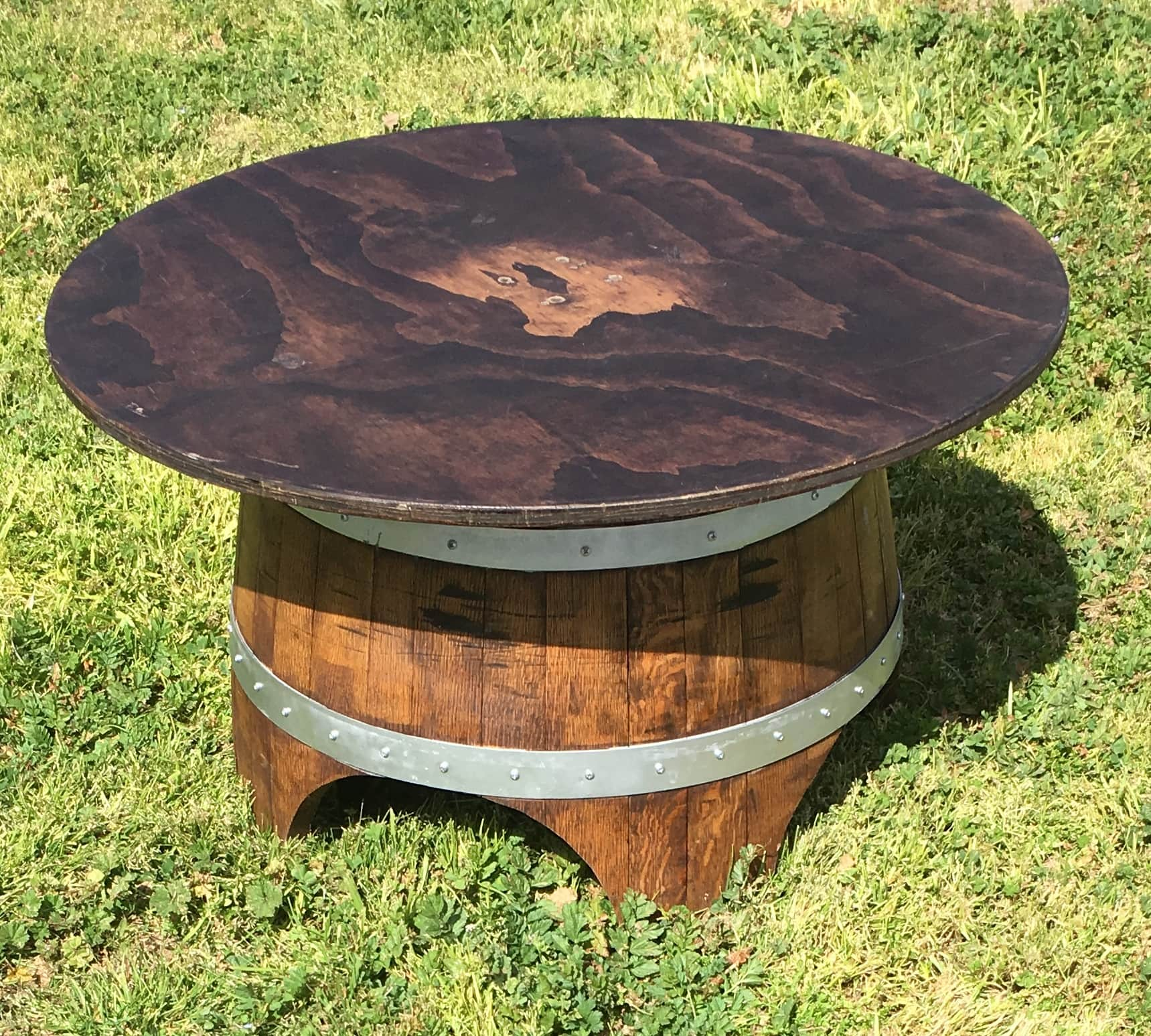 Wine Barrel Lounge Table ...
