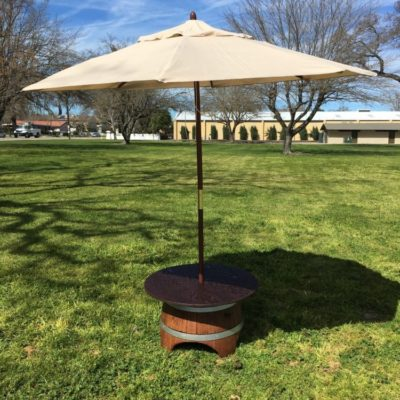Table - Wine Barrel Lounge (Wood Top w_ Umbrella)2
