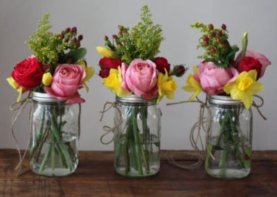 Copy of Mason Jar Wedding Flowers