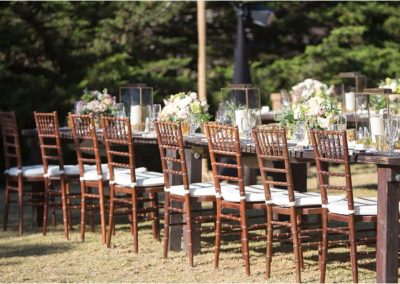 Rustica Tables _ Chiavari Chairs