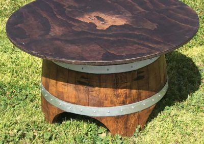 Table - Wine Barrel Lounge (36- Round Wood Top)