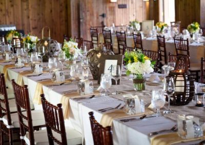 Weding Table with Mason Jars _ Chivari Chairs