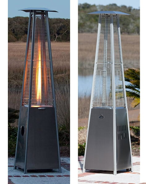 pyramid patio heater rental plus