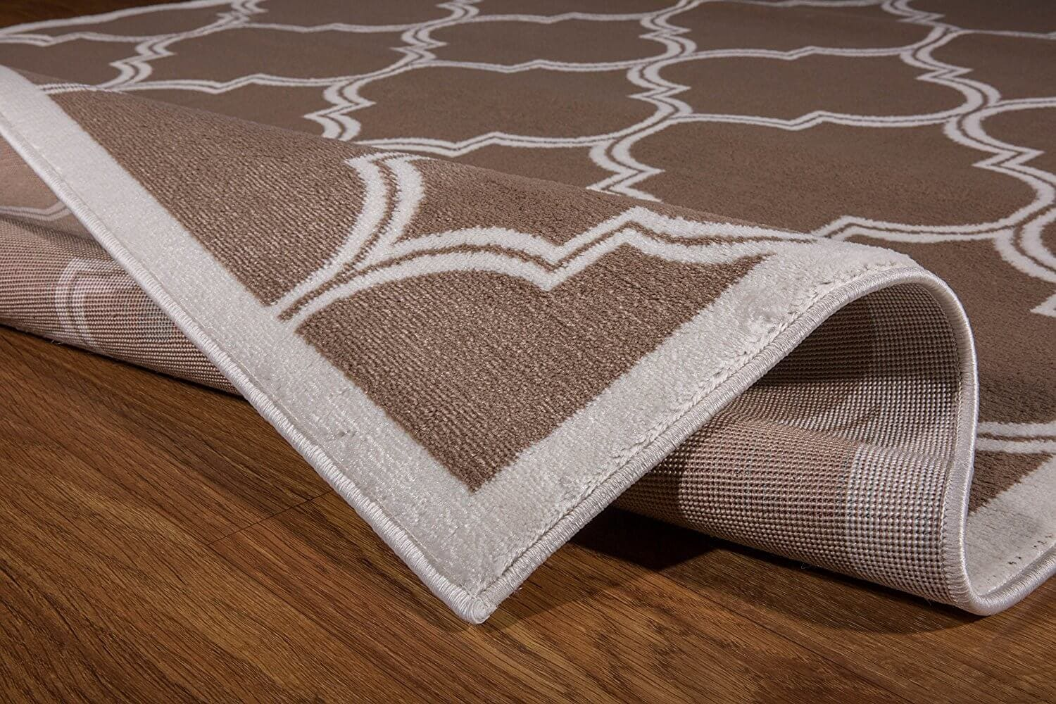 "Cream Trellis Area Rug 7 10"" X 10 Taylor Rental Party Plus"