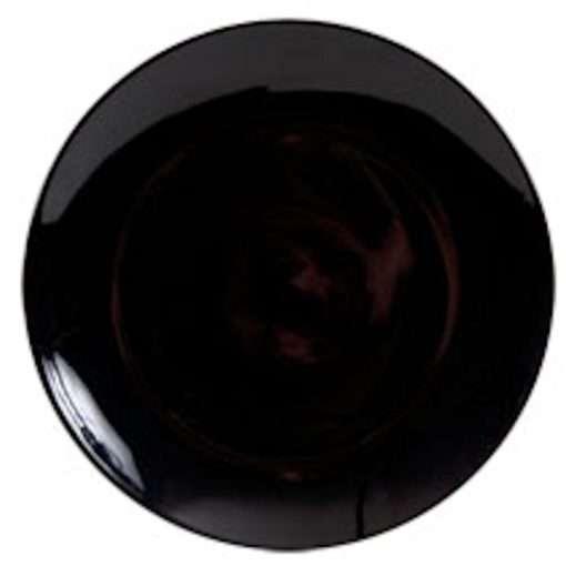Black Stoneware Plate
